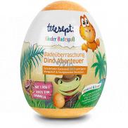 Tetesept Dinosaurs sparkling ball - bath eggs with dinosaur figurine 140 g