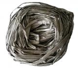 Raffia silver colored bast for decoration 30 g