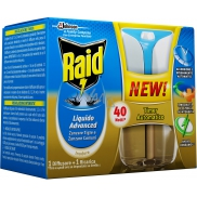 Raid Advanced electric vaporizer liquid with automatic timer against mosquitoes 40 nights 33 ml