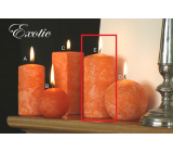 Lima Marble Exotic scented candle orange cylinder 60 x 120 mm 1 piece