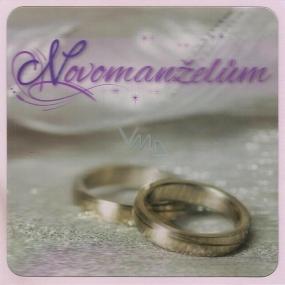 Albi 3D Envelope Greeting Card, silver wedding rings, 15.5 x 15.5 cm