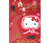 Nekupto Gift Paper Bag Medium 23 x 18 x 10 cm Hello Kitty Christmas 1192 WLGM