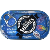 If Tin of Sardines Page Markers Book Bookmarks 50 Sardines 45 x 0.5 x 20 mm