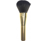 Cosmetic Brush 066 Gold Handle Dark Brown Hair 0613