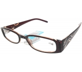 Glasses diop.plast. + 3 brown sides with stones MC2154