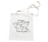 Bohemia Gifts & Cosmetics Waist bag with potisem - Map 42 x 38 cm