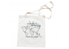 Bohemia Gifts Canvas bag with print World map 42 x 38 cm