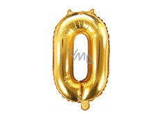 Inflatable balloon number 0, 35 cm foil