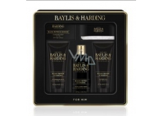 Baylis & Harding Black pepper and Ginseng 2in1 shampoo and shower gel 300 ml + toilet soap 150 g + shower gel 130 ml + aftershave balm 130 ml + washcloth, cosmetic set for men