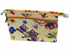 Abella Toilet cosmetic handbag 30 x 20.5 x 5.5 cm, cream pattern NA04