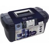 Nivea Men Protect & Care Kit aftershave 100 ml + shaving gel 200 ml + shower gel 250 ml + antiperspirant deodorant roll-on 50 ml + cream 150 ml + box, cosmetic set for men