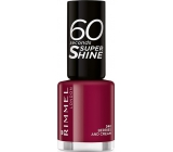 Rimmel London 60 Seconds Super Shine Nail Polish Nail Polish 340 Berries And Cream 8 ml