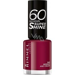 Rimmel London 60 Seconds Super Shine Nail Polish nail polish 340 Berries And Cream 8 ml