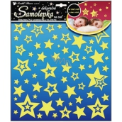 Room Decor Star wall stickers with glitter glowing in the dark 31 x 29 cm