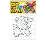 Folding coloring book Bear 25 pieces 18 x 12 cm