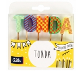 Albi Cake candles name - Tonda, 2.5 cm