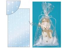 Angel Bag transparent with stars on 20 x 35 cm line