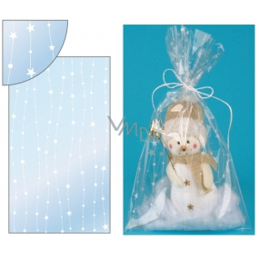 Transparent bag with stars on the line 20x35cm
