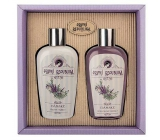 Bohemia Gifts First Republic Lavender body lotion 200 ml + shower gel 200 ml, cosmetic set