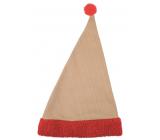 Santa's jute hat with red trim 47 cm