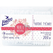 Linteo 100% paper cotton swabs for ears 200 pieces