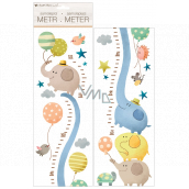 Wall stickers children's meter Elephants, up to 120 cm