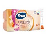 Zewa Deluxe Aqua Tube Cashmere Peach Eau De Parfum Spray 3 Layer 150 Scraps 8 Pieces, Flush Roll