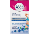 Veet Easy-Gel wax strips for sensitive skin - bikini and armpit 16 pieces + Perfect Finish wipes for final care 3 pieces