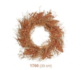 Shabby gold garland with copper glitters 33cm