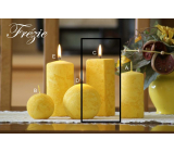Lima Marble Frézíe scented candle yellow prism 45 x 120 mm 1 piece
