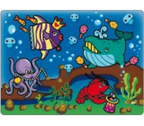 Magical water painting with brush Sea World 20 x 15 cm