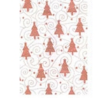 Ditipo Gift wrapping paper 70 x 500 cm Christmas beige brown Christmas trees