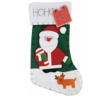 Christmas stocking Noel - green 45 x 26 cm