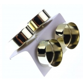 Metal candle holder for gold tea candle 4 cm 4 pieces