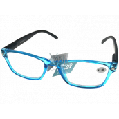 Berkeley Reading glasses +2.0 plastic transparent blue, black sides 1 piece MC2166