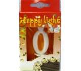 Happy light Dortová svíčka číslice 0 v krabičce