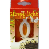 Happy light Cake candle digit 0 in box