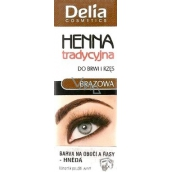 Delia Cosmetics Henna eyebrow and eyelash color Brown 2 g
