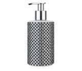 Vivian Gray Diamond Black & White Luxury liquid soap with a 250 ml dispenser