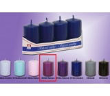 Lima Candle smooth medium purple cylinder 40 x 70 mm 4 pieces