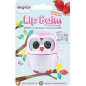Body Club Owl Metallic Strawberry Lip Balm 3.5 g
