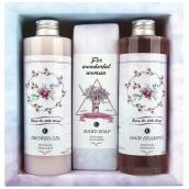 Bohemia Gifts & Cosmetics Boho Style & Gentleman Rose and Rosehip Shower Gel 250 ml + Toilet soap 145g + Hair Shampoo 250 ml