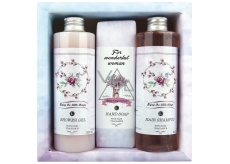Bohemia Gifts & Cosmetics Boho Style & Gentleman Růže a Šípek Sprchový gel 250 ml + Toaletní mýdlo 145g + Šampon na vlasy 250 ml kosmetická sada