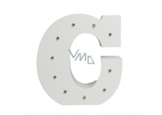 Nekupto Wooden LED letter C decoration 16 cm