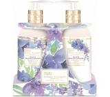Baylis & Harding Lilac and English Lavender liquid soap 300 ml + hand milk 300 ml, cosmetic set