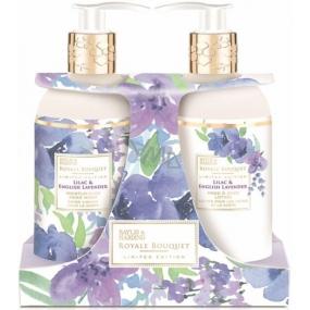 Baylis & Harding Lilac and English Lavender liquid soap 300 ml + hand milk 300 ml, cosmetic set