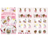 Shrink decoration foil for fairy eggs 10 pieces + 10 stands