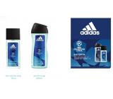 Adidas UEFA Champions League Dare Edition VI perfumed deodorant glass for men 75 ml + shower gel 250 ml, cosmetic set