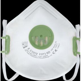 Respirator FFP3 Oxyline X 310 SV with valve Professional protection 1 piece