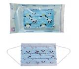 Disposable 3-layer drape for children blue 5 pieces